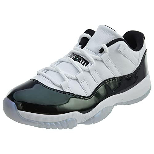 0a8e5d99612f Jordan Air 11 Retro Low Men s Basketball Shoes White Emerald Rise Black  528895-