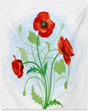 Floral Room Decor Poppy Flowers Bouquet Meadow Beauty Rural Petal of Fragrance Image Living Room Decorative Painting Scarl...
