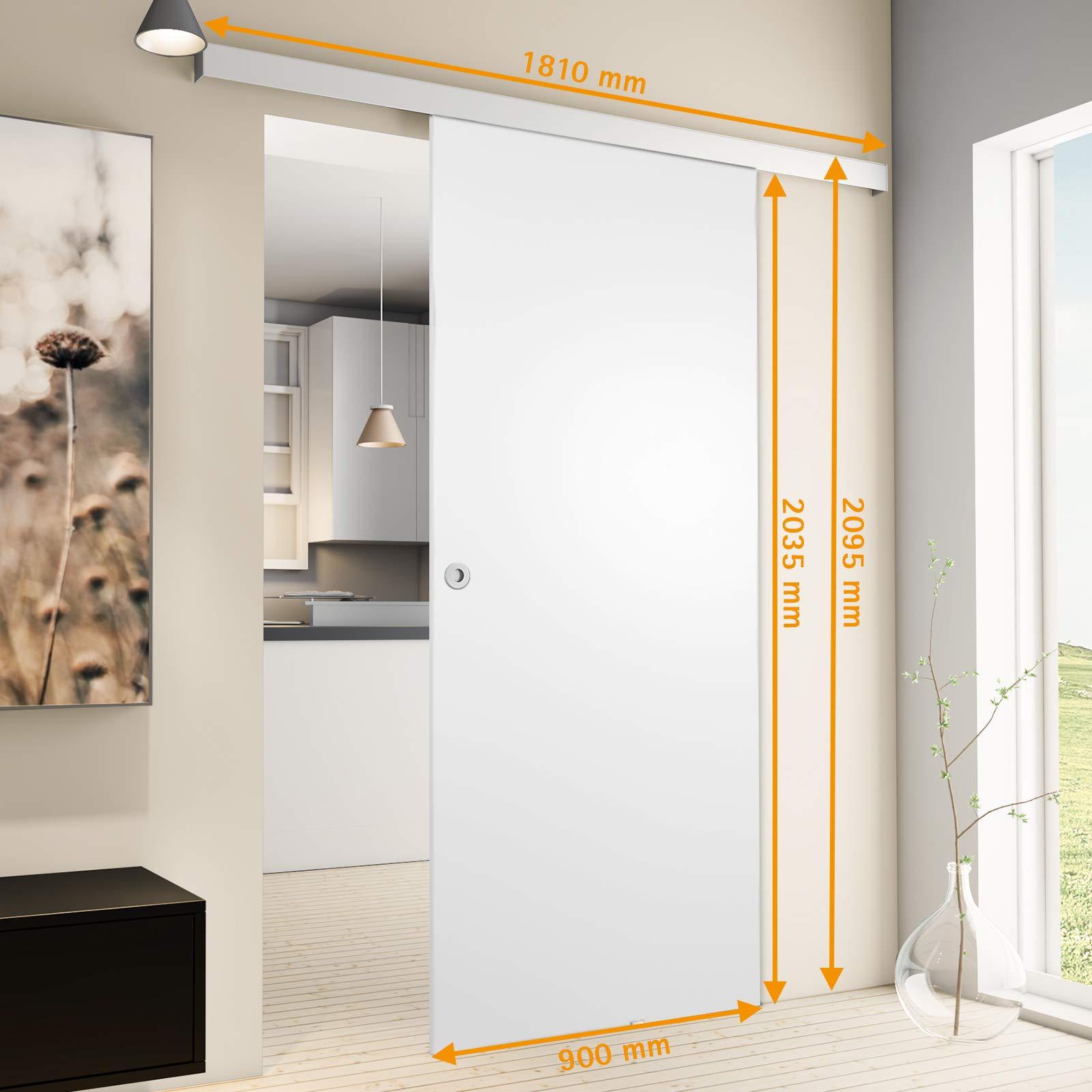 Inova Madera de puerta corredera, 900 x 2035 mm habitaciones Juego ...