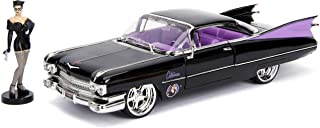 """DC Comics Bombshells Catwoman & 1959 Cadillac Die-cast Car, 1:24 Scale Vehicle & 2.75"""" Collectible Figurine 100% Metal"""
