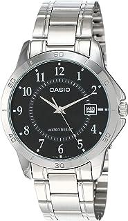 Casio Men's Black Dial Stainless Steel Band Watch - MTP-V004D-1, Analog, Quartz