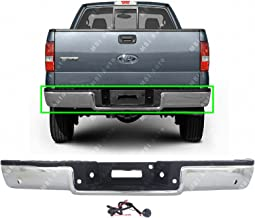 MBI AUTO - Chrome, Steel Rear Bumper Assembly for 2004 2005 Ford F150 Pickup 04 05, FO1103119