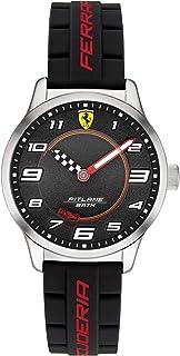 Scuderia Ferrari YOUTH'S BLACK DIAL BLACK SILICONE WATCH - 870043 0870043