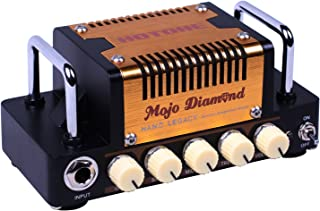 Hotone Nano Legacy Mojo Diamond 5w Class AB Guitar Amplifier Head inspired by legendary Fender Tweed Extremely Compact Volume and Gain control/3 Band EQ/FX LOOP/Fit 4-16Ω Cabinets/Headphone output/Aux In jack