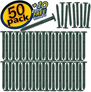 Window Shutters Panel Peg Lok Pin Screws Spikes 3 inch 60 Pack (Forest Green) Exterior Vinyl Shutter Hardware Strongest Made in USA