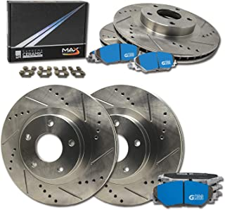 Max Brakes Rear Premium XD Rotors and M1 Supreme Pads Brake Kit KM074922-8