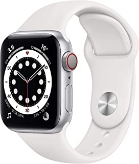 Apple Watch Series 6 (GPS + Cellular, 40 mm) Caja de aluminio en plata - Correa deportiva blanca
