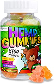 New Generation Labs Hemp Gummies – 60Pcs Gummy Bears – Low Calorie Non-Gluten Calm Gummies – Nutrient Packed Formula with ...