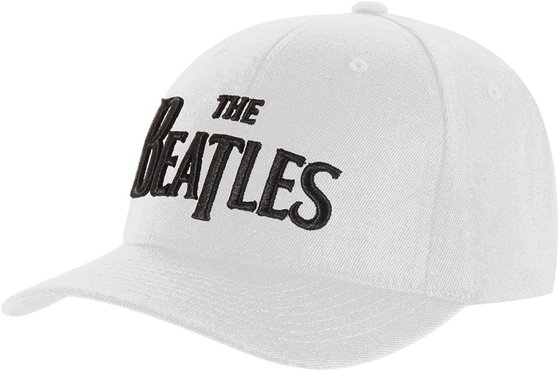 Beatles Men's Drop T Logo Baseball Cap White