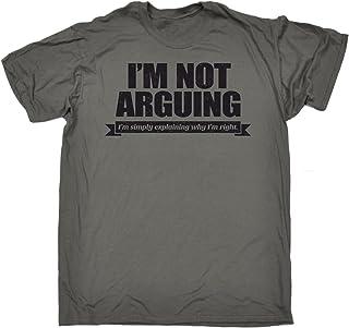 123t Men's I'm Not Arguing Simply Explaining Why Right Black Logo Tshirt