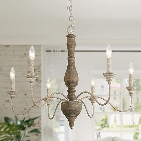candelabros de velas blancas de 6 luces cocina con isla candelabro colgante de metal vintage sala de estar iluminaci/ón colgante de techo para mesa de comedor Ganeed Candelabro de campo franc/és