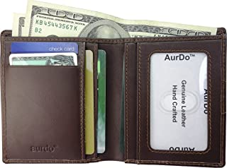 RFID Blocking 2 Id Bifold Slim Leather Wallet form Men, Sleek And Stylish Gift For Him