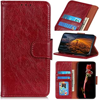 FTRONGRT Cover compatible for vivo V20 2021 Case, Flip cover with [card slot] [bracket] [wallet], Magnetic PU leather wall...