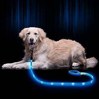 NOVKIN LED Dog Leash, Rechargeable Light Up Dog Leash ,Lighted Dog Leashes Keep Your Dogs Visible and Safe for Night Walki...