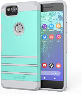 Google Pixel 2 Case, Crave Strong Guard Protection Series Case for Google Pixel 2 - Mint/Grey