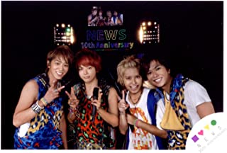 NEWS 公式生写真 NEWS LIVE TOUR 2013 NEWS MAKES YOU HAPPY! MAKES THE WORLD HAPPIER! コンサートパンフ & グッズ撮影オフショット【集合 手越祐也 増田貴久 加藤シゲアキ 小山慶一郎】