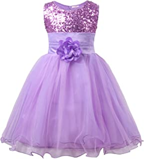 edbec8a5c1 JerrisApparel Little Girls  Sequin Mesh Flower Ball Gown Party Dress Tulle  Prom