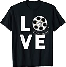 I Love Movies T-Shirt Gifts for Film Lovers, Students & Fans