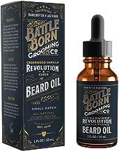 Beard Oil by Battle Born Grooming Co: Revolution (Cedarwood/Blood Orange/Clove)   All Natural Beard Conditioning Oil   30 ml   1 oz
