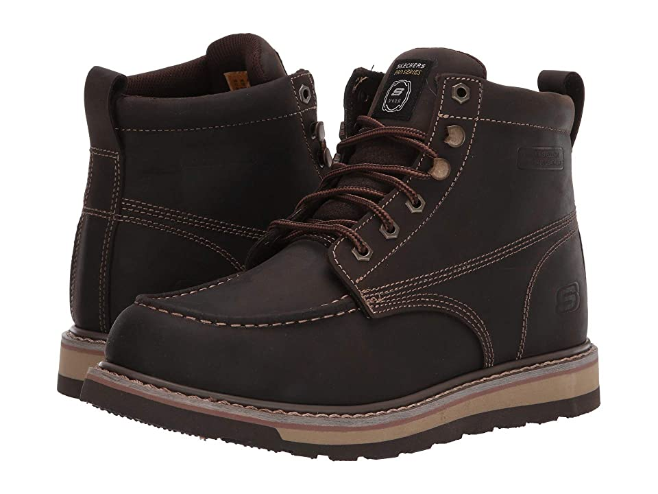 Image of SKECHERS Work Boydton (Dark Brown) Men's Work Boots