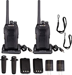Retevis RT27 Walkie Talkies for Adults FRS Radios UHF 22 CH Scan VOX Hand Free 1100 mAh Security Outdoor 2 Way Radios (2 Pack)