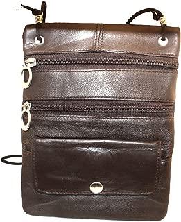 Silver Fever Leather Pasport Travel Crossbody Bag