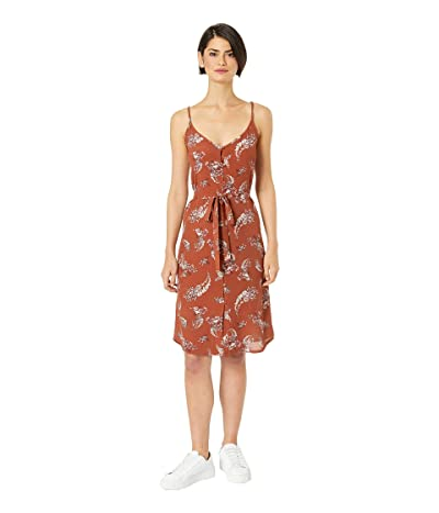 Bishop + Young Button Up Belted Dress (Rust) Women