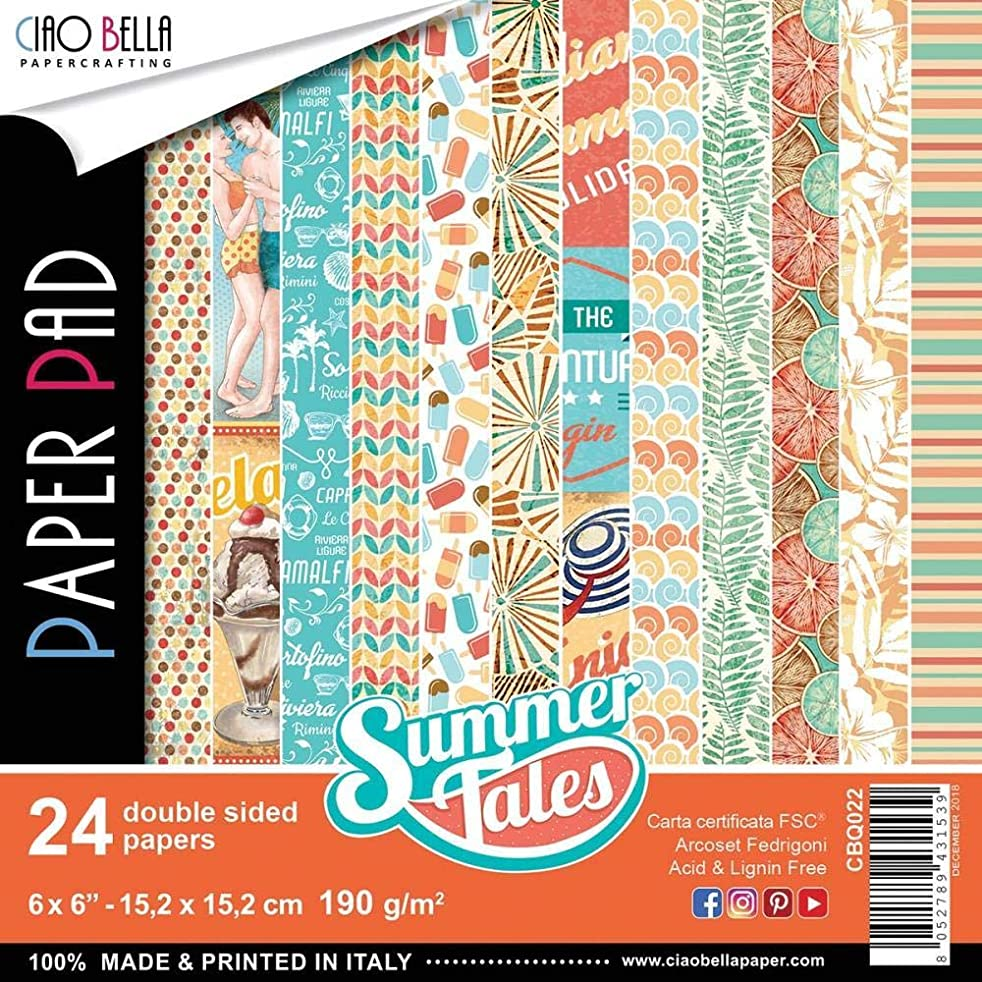 Ciao Bella CBQ022 Summer Tales Double-Sided Paper Pack 6