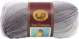 Lion Brand Yarn 923-200 Ice Cream Yarn, Cookies and Cream