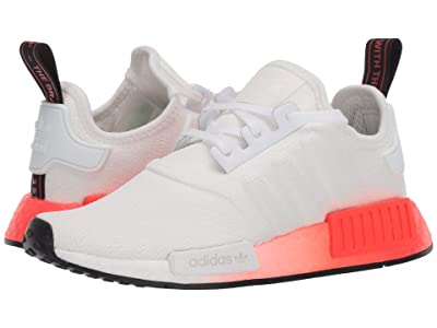 adidas Originals Kids NMD_R1 J (Big Kid) (White/Black/Solar Red) Kids Shoes