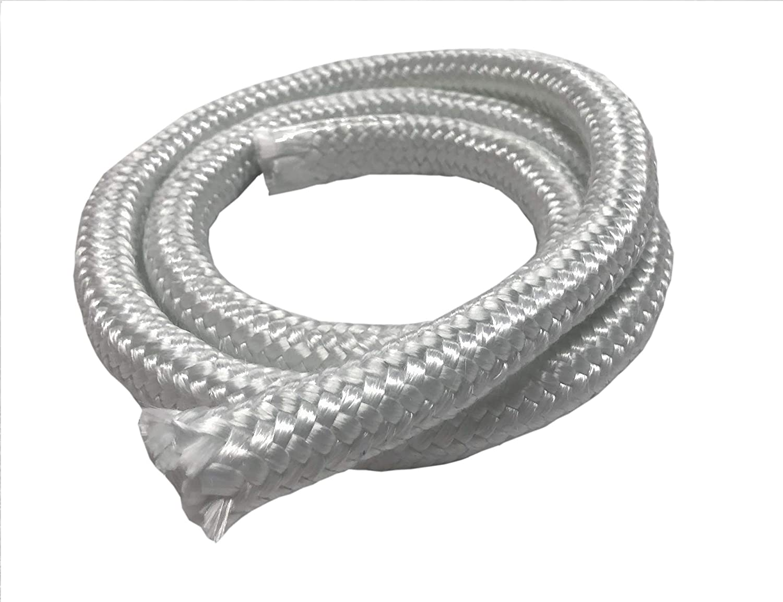 MinGlas Rope Seal Fiberglass High Density Rope Gasket 1//4 x 8 feet Stove Boiler Furnace Oven Kiln Door Seal Gasket Firm Round Braided