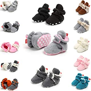 Baby Boy Girls Newborn Soft Fleece Booties Infant Toddle Crib Shoes Winter Snow Boots