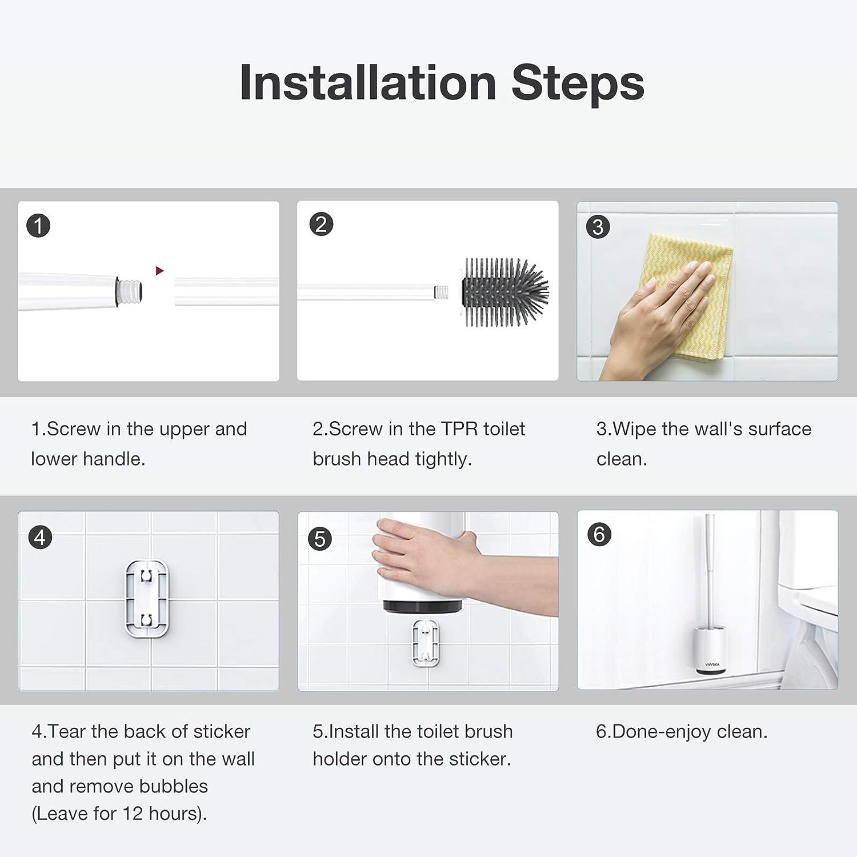 testina di ricambio VAVSEA Scopino per WC per bagno o WC degli ospiti