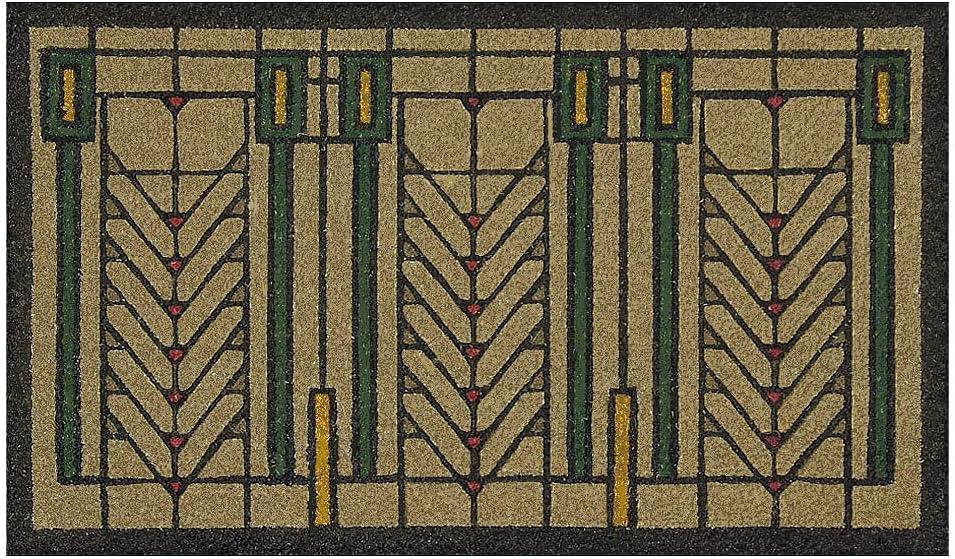 Frank Lloyd Wright Colored Tree of Life Doormat