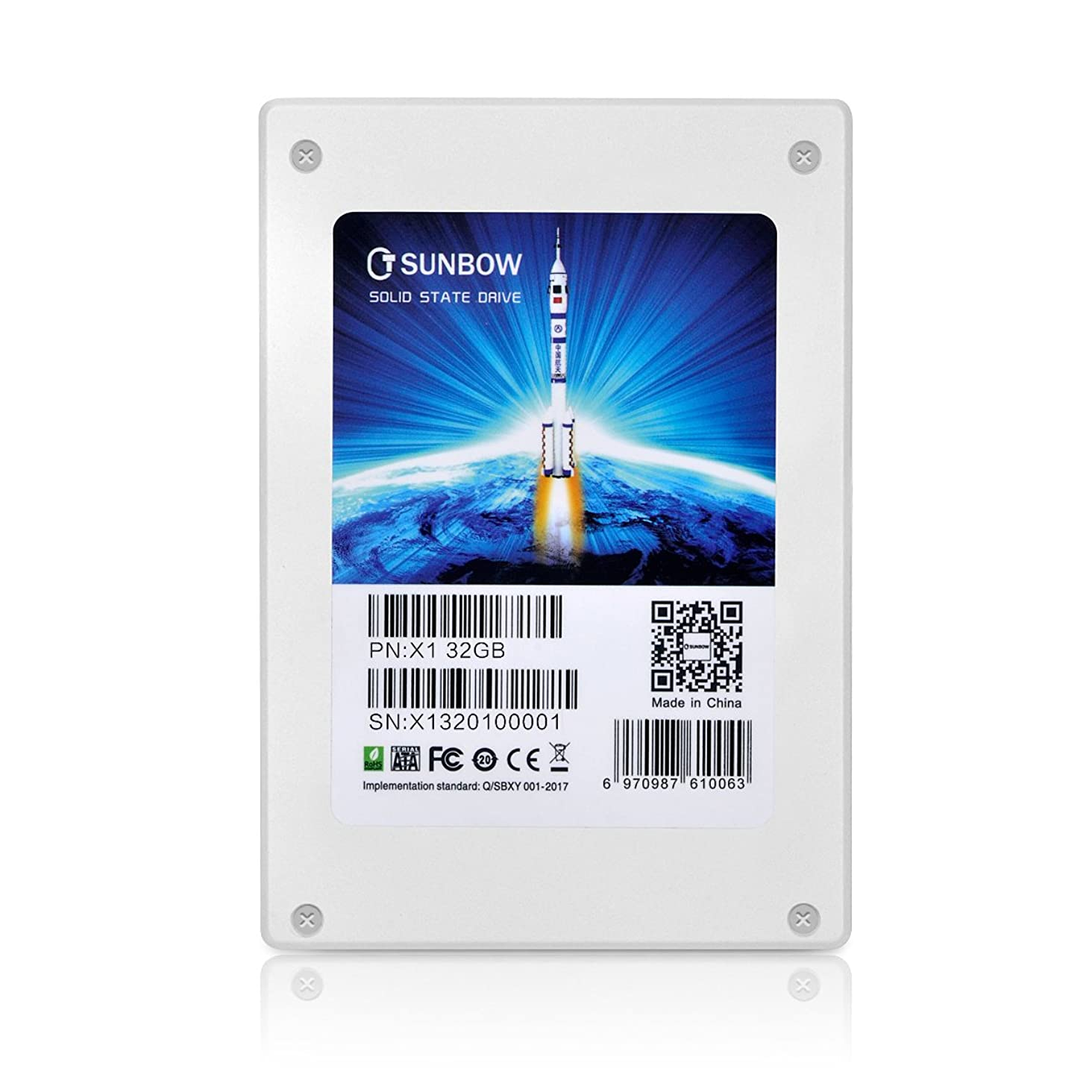 欺く打ち上げるセーターTcSunBow 32GB小容量SSDプロモーションデスクトップPCとMacPro用の2.5インチSATA II内蔵ソリッドステートドライブスピードアップグレードキット(X1 32GB)