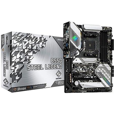 ASRock AMD Ryzen 3000シリーズ(Soket AM4)対応 B550チップセット搭載 ATX マザーボード 【国内正規代理店品】B550 Steel Legend