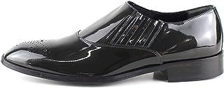 Zapatos clásicos artesanales Oxford de pintura gris perlada con Francesina en la punta
