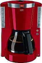 Melitta Look Selection 1011-17, filterkoffiezetapparaat met glazen kan, AromaSelector, rood