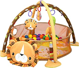 Baby Cartoon Toys Activity Gym Play Mat & Ball Pit Infant Floor Gym Mat