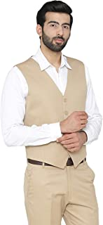 WINTAGE Men's Polyester Cotton Festive and Casual Vest Waistcoat