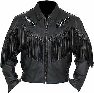 coolhides Men's Western Cowboy Real Leather Jacket