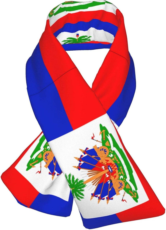 Winter Scarfs Haiti Flag Scarves Wraps Neck Warmer Flannel Winter Cross Tie Scarves
