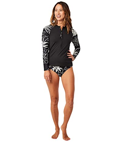 Carve Designs Kona Rashguard (Black/Wailuku) Women
