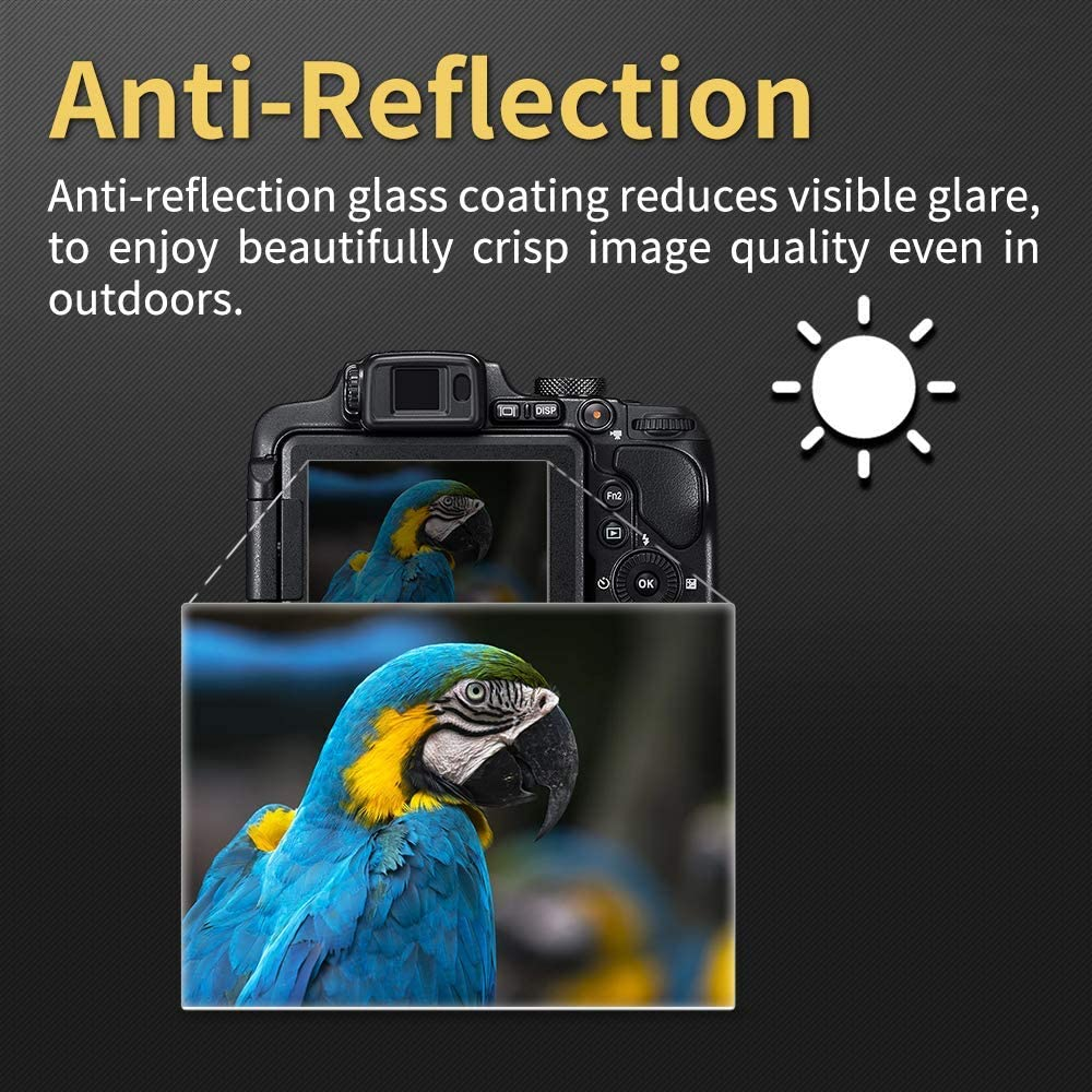 ORMY pro Tempered Glass Camera Screen Guard for Nikon D810 D810A D800 D800E Ultra-thin 0.2mm // Japanese AGC Glass 9H Hardness, 98/% High Transparency, Anti-Reflection, Japanese Film for Top Screen