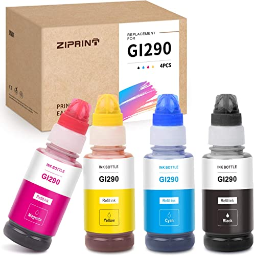 lowest ZIPRINT Compatible Ink Bottle Replacement for Canon GI-290 GI290 GI 290 2021 for PIXMA G4200 G4210 G3200 G1200 (Black Cyan lowest Magenta Yellow) online sale