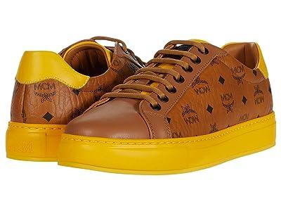 MCM Visetos Low Top Sneaker (Cognac) Women