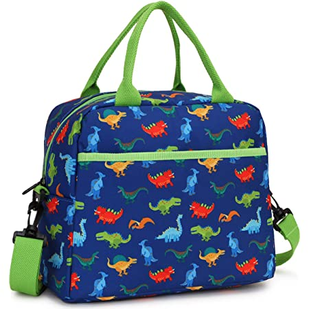 Lunch Bag for Boys, Insulated Lunch Box Bag Cute Dinosaur Thermal Lunch Tote with Removable Shoulder Strap, VONXURY