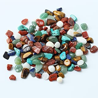 1 Bag 100g Colorful Mixed Irregular Shape Tumbled Stones Rock Gem Beads Glass Gems for Table Scatters, Fake Ice Cubes Gems Gemstones Vase Fillers