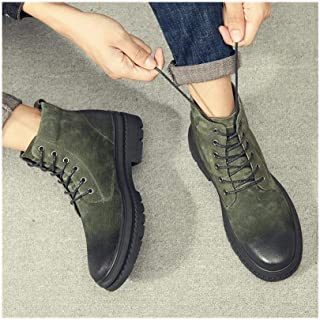 28ebede1b2c BAACHANG Martin Botas De Cuero De Los Hombres Altos Zapatos Retro De Los Hombres  Casuales Zapatos