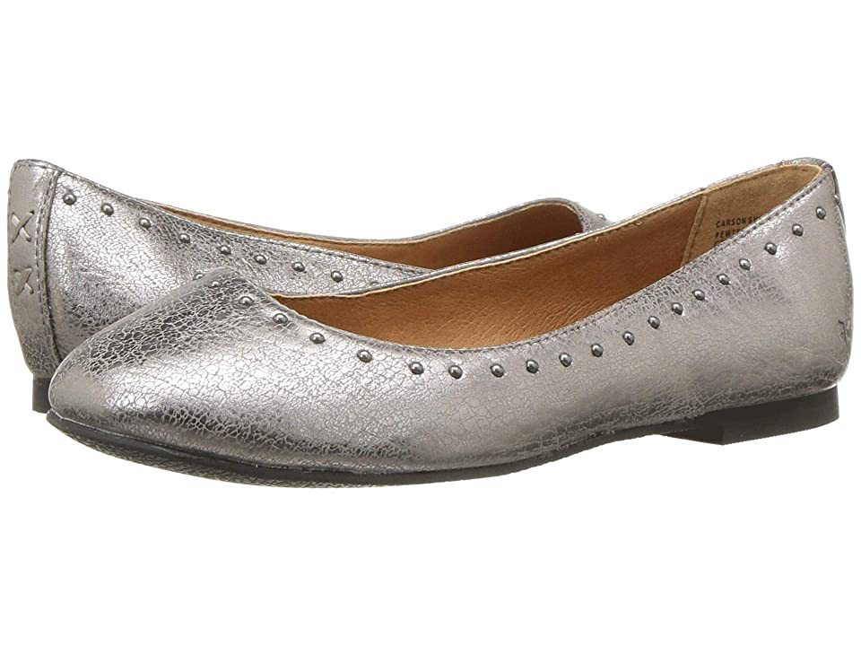 Frye Kids Carson Shimmer (Little Kid/Big Kid) (Pewter) Girls Shoes